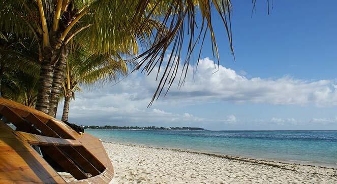 La plage montrant le climat à l'île Maurice