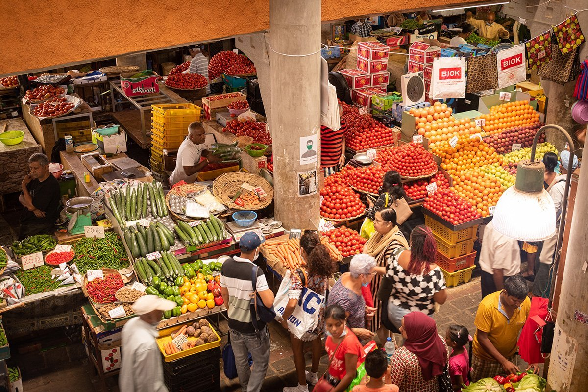 Le marché de Port-Louis - les légumes